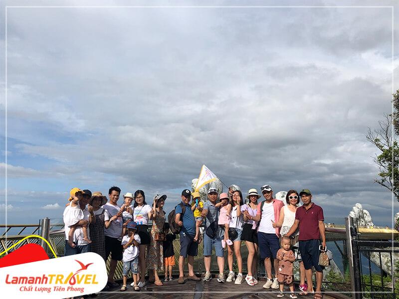 Cầu vàng (golden bridge) điểm checkin không thể thiếu khi đi du lịch tại Đà Nẵng